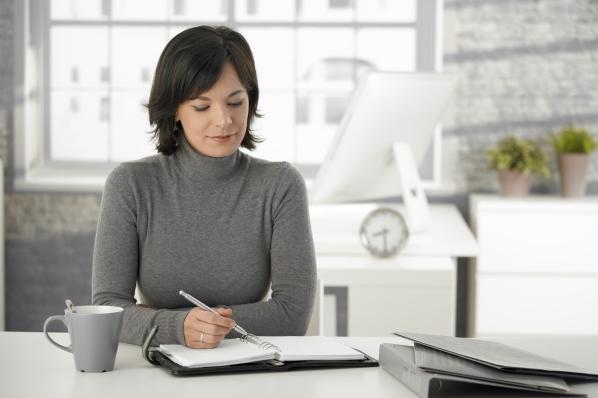 Woman Considering Retirement Options
